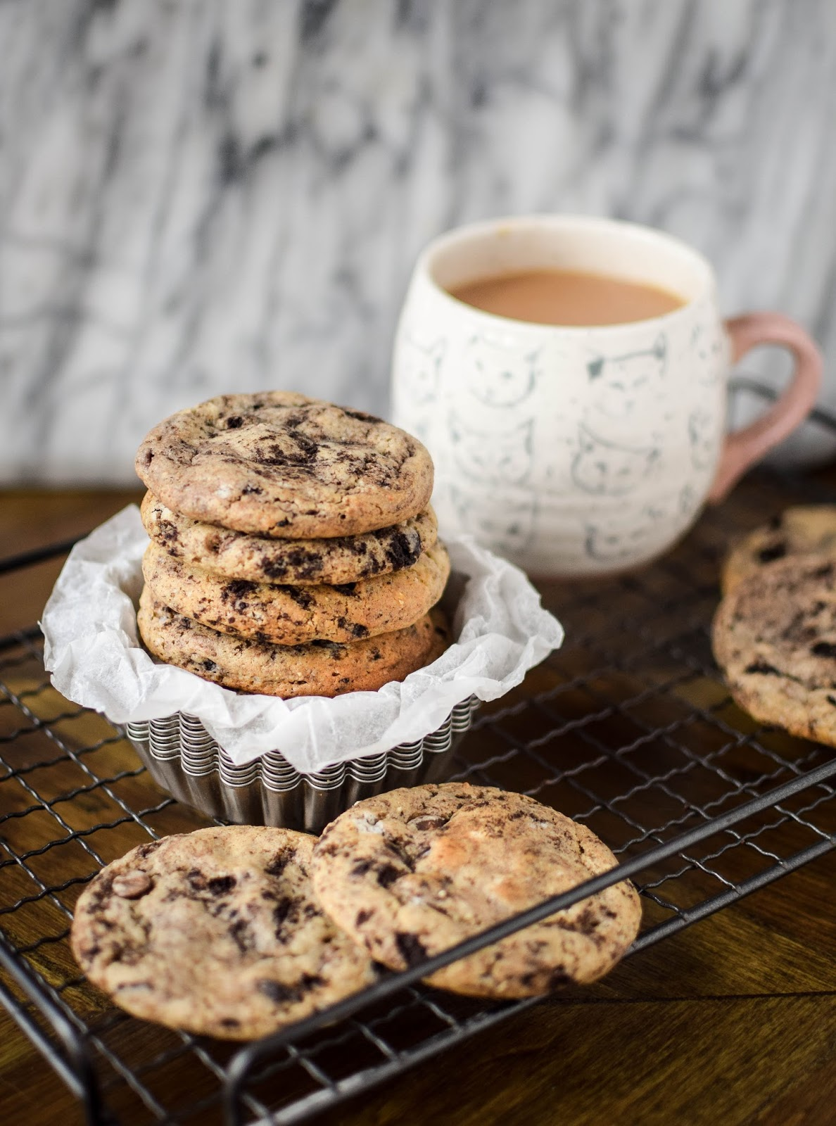 Cookies and cream cookies, that's right, a cookie studded with more cookies!