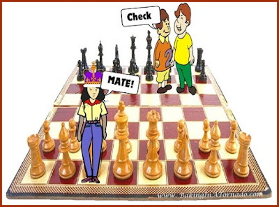 CheckMate or Why I Grilled Pizza: parents vs kids, a humorous look at who outmaneuvers who | www.BakingInATornado.com | #MyGraphics #family