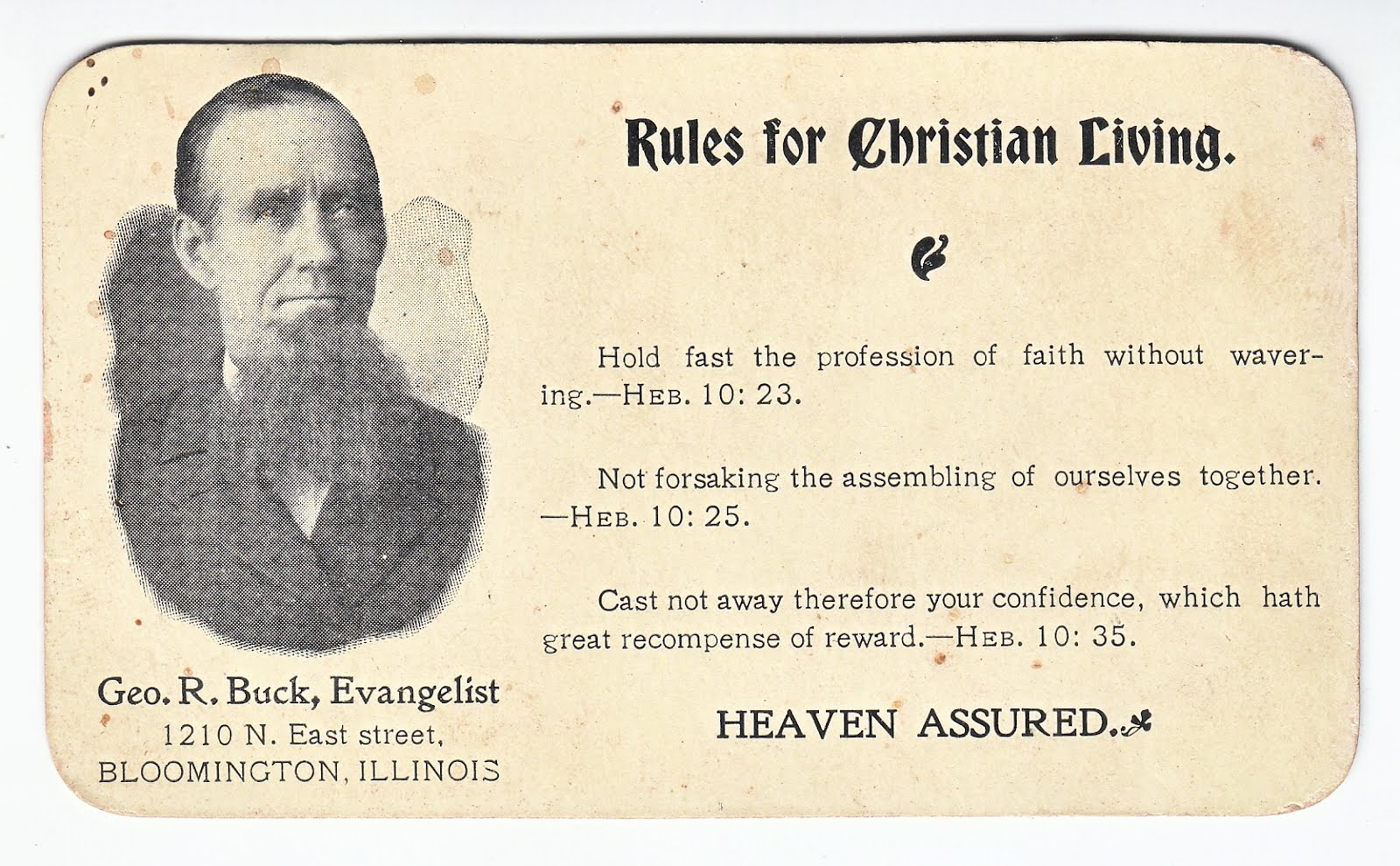 old time religion by Jim Linderman: Heaven Assured Buck's Rules ...