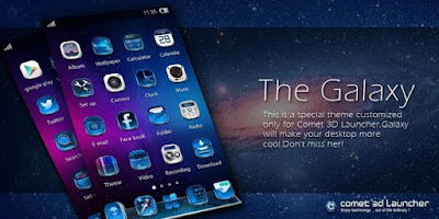 Galaxy-Comet 3D Launcher Theme Apk For Android