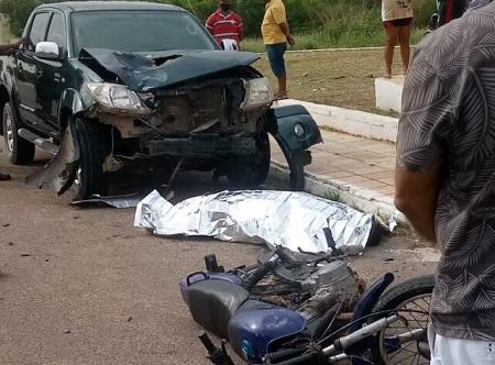 BRASIL-Condutor de moto morre em acidente no município de Araripina