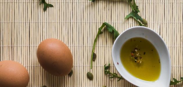 البيض وزيت الزيتون