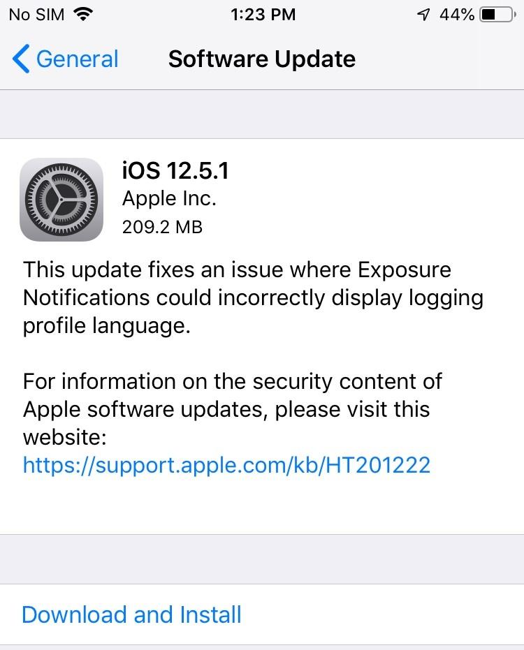 iOS 12.5.1 Features