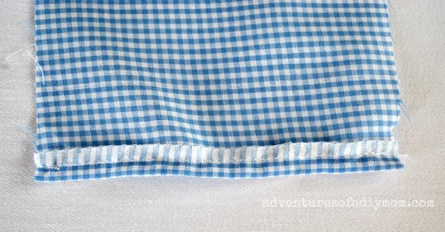 sew over edge of fabric
