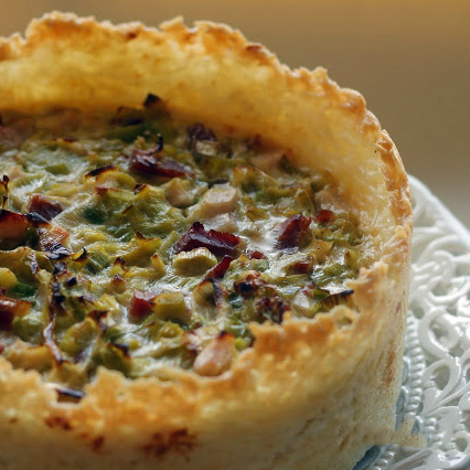 quiche de puerro con base de arroz
