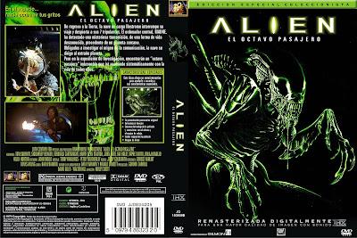Carátula dvd: Alien el octavo pasajero / Descargar / Película