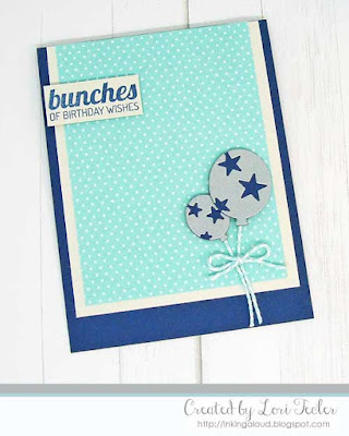 Bunches of Birthday Wishes card-designed by Lori Tecler/Inking Aloud-stamps and dies from Lil' Inker Designs