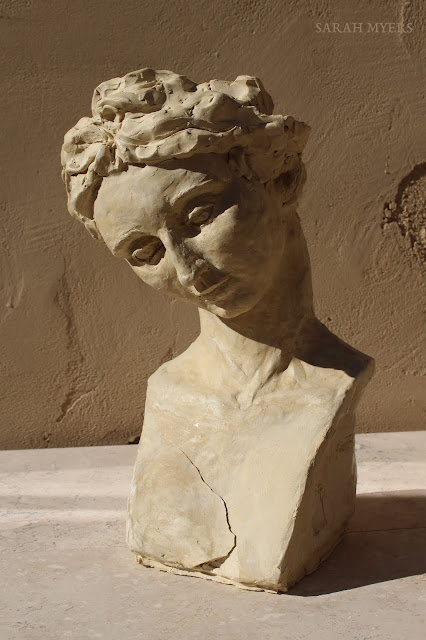 head, woman, sarah, myers, sculpture, art, contemporary, arte, escultura, modern, ceramic, ceramica, face, graceful, tranquil, tranquilo, modern, simple, crack, skulptur, kunst, large, life-sized, long, neck, tilted, design, figurative, tilt, gentle