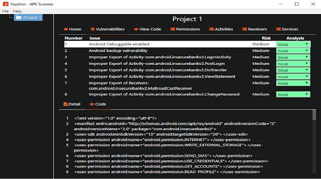 Yaazhini - Free Android APK & API Vulnerability Scanner