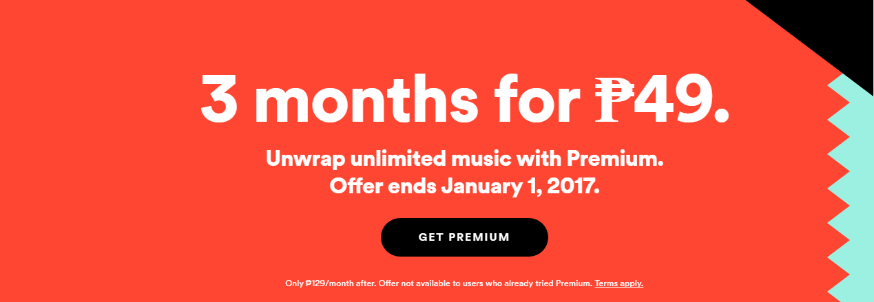 Spotify coupon discount