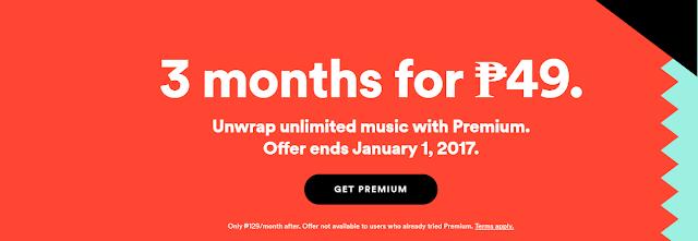 spotify promo December 2016
