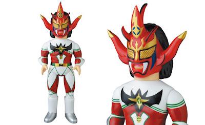 Jushin Thunder Liger Red & Green Edition Sofubi Fighting Series Vinyl Figure by Medicom Toy