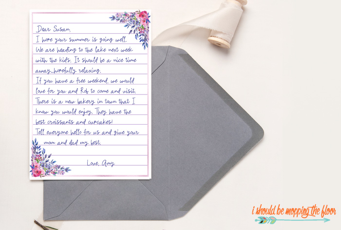 Free Lined Stationery Printables