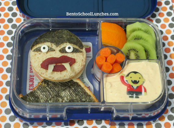 Vampire Halloween bento lunch