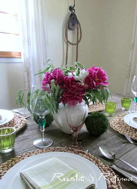 Tablescape using fresh flowers