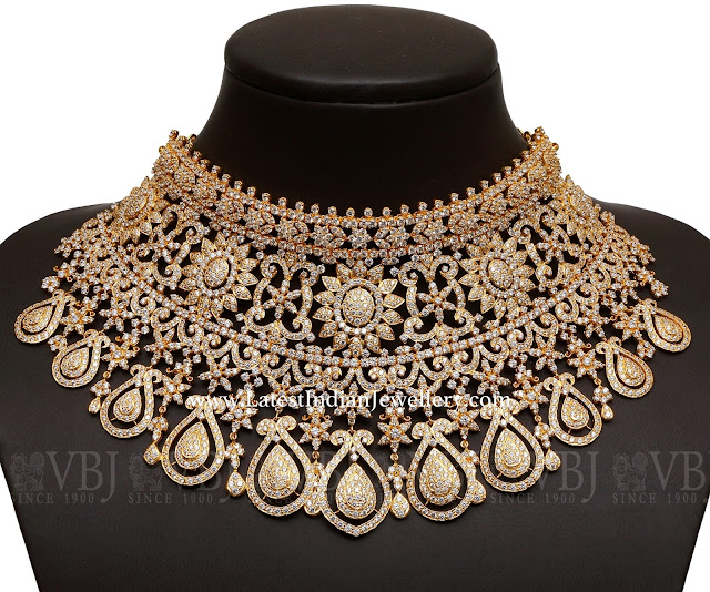 Grand Bridal CZ Choker