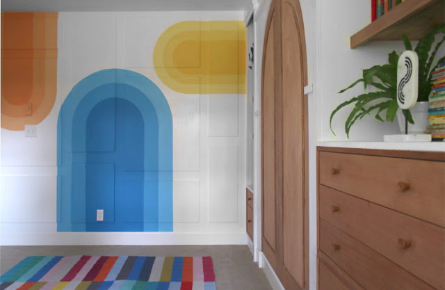 how to paint arches on your wall