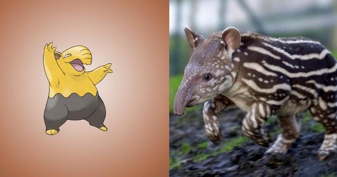 Pokemon-Drowzee-hewan-Tapir