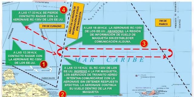 """Ceofanb denunció que un avión """"espía"""" de USA violó otra vez el espacio aéreo venezolano"""