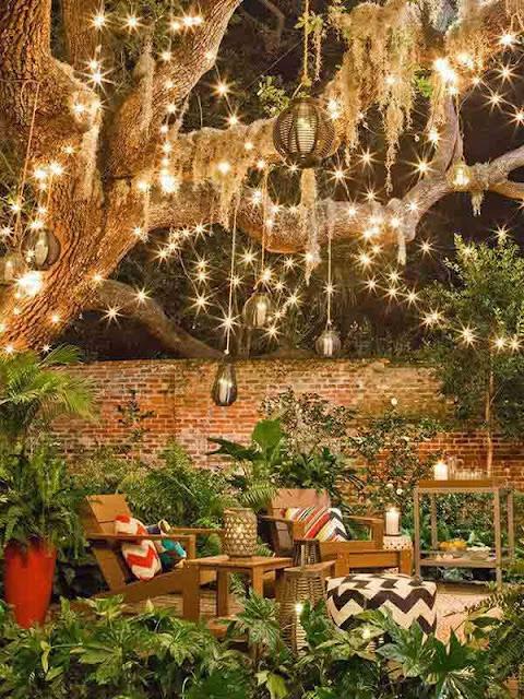 Nighttime Bonding garden ideas