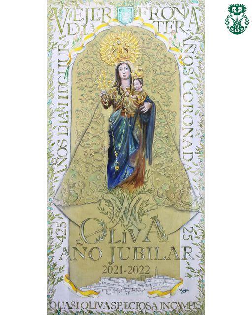 Cartel del Año Jubilar de la Virgen de la Oliva de Vejer de la Forntera (2021-2022)