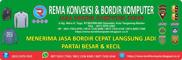 JASA BORDIR CEPAT PROFESIONAL  DI TANGERANG WA 0877 8252 7700