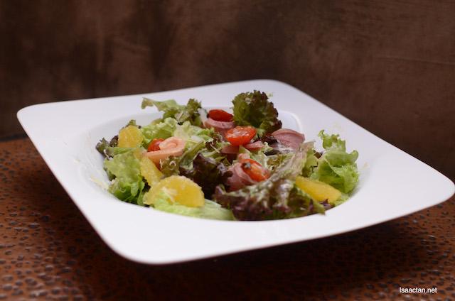 Citrus Smoked Duck Salad.