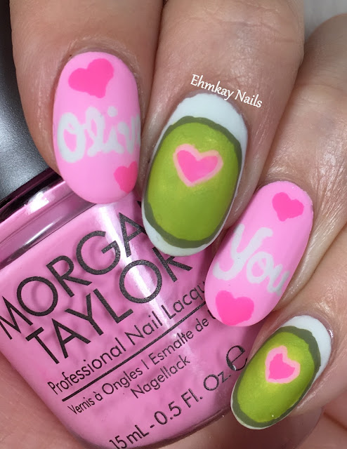 Ehmkay Nails Happy New Year S Eve Nail Art Stamping: Ehmkay Nails: Olive You Valentine's Day Nail Art