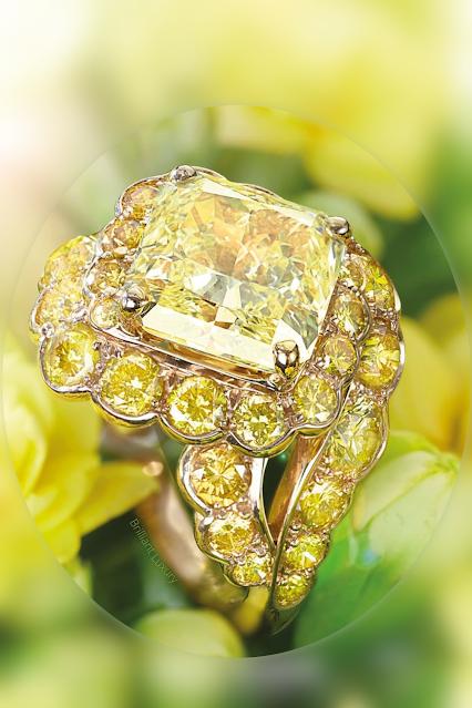 ♦David Morris yellow diamond Maelstrom cocktail ring #jewelry #brilliantluxury
