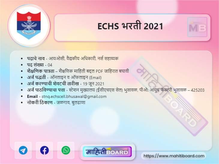 ECHS Bharti 2021