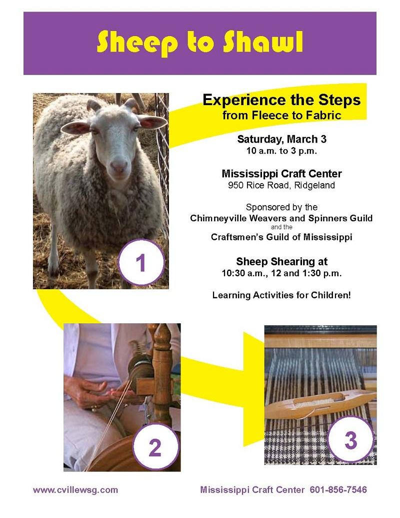Ross Barnett Reservoir: Sheep To Shawl At Craftsmens Guild