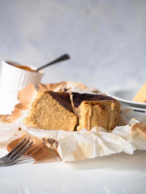 Pumpkin Basque Cheesecake