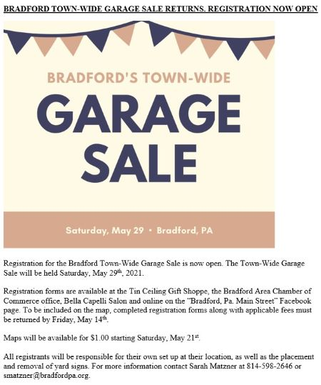 5-29 Bradford's Town-Wide Garage Sale