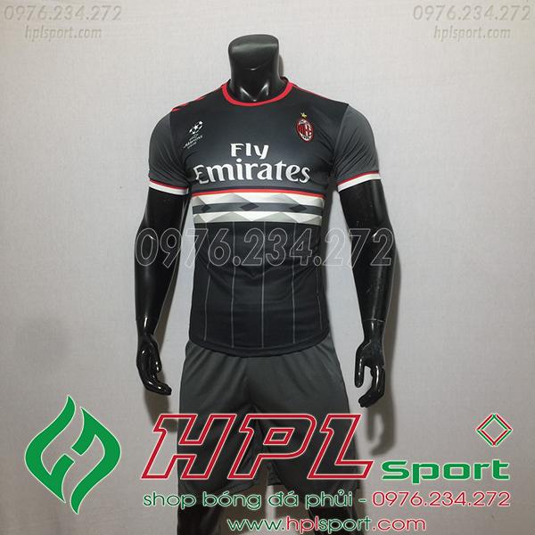 Áo CLB AC Milan training màu đen 2020