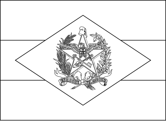 Bandeira do estado brasileiro de Santa Catarina para colorir
