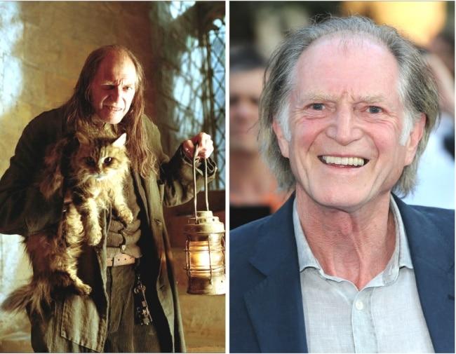 Argus Filch interpretado por David Bradle