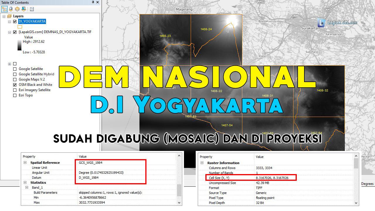 DEM Nasional (DEMNAS) Provinsi D.I Yogyakarta Terbaru