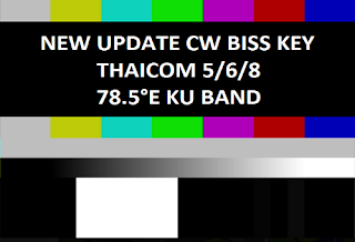 New CW Biss Key Satellite Thaicom 5/6/8 16 June 2018