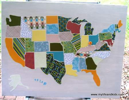 Remodelaholic DIY USA Map Out Of Scrapbook Paper - Us paper map
