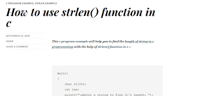 How to use strlen() function in c