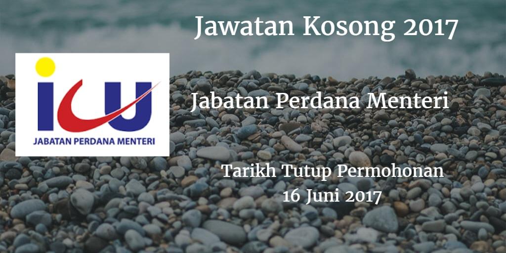 Jawatan Kosong Jabatan Perdana Menteri (ICU JPM) 16 Juni 2017