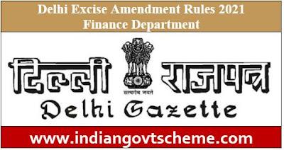 Delhi Excise Amendment Rules