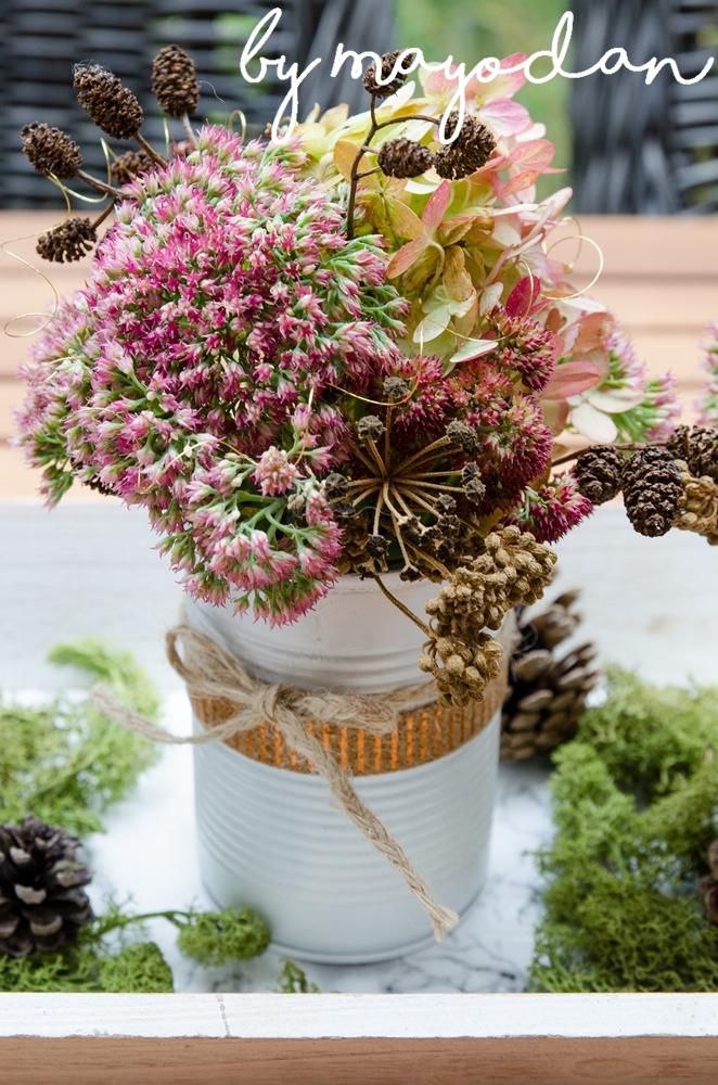 Upcycling Herbstliche Tischdeko Aus Dosen Mayodans Home Garden