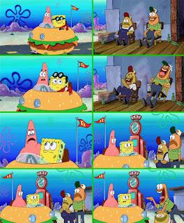 Polosan meme spongebob dan patrick 42 - patrick dan spongebob diejek karena main mobil-mobilan anak kecil di gloves world