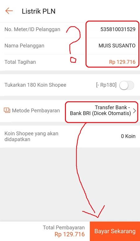 Pilih Metode Pembayaran Listrik PLN di Shopee