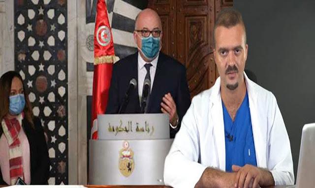 """تونس :زكرياء بوقيرة ينفجر في وجه وزير الصحة: """"لباس في مخّك..""""!!"""