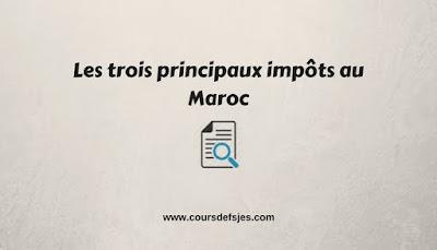 Les trois principaux impôts au Maroc