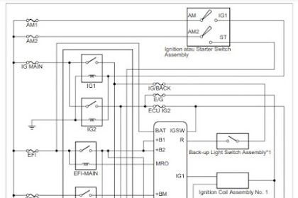 Wering Diagram Kontrol Mesin ( Enggine Control ) Mesin Toyota 1NR-VE
