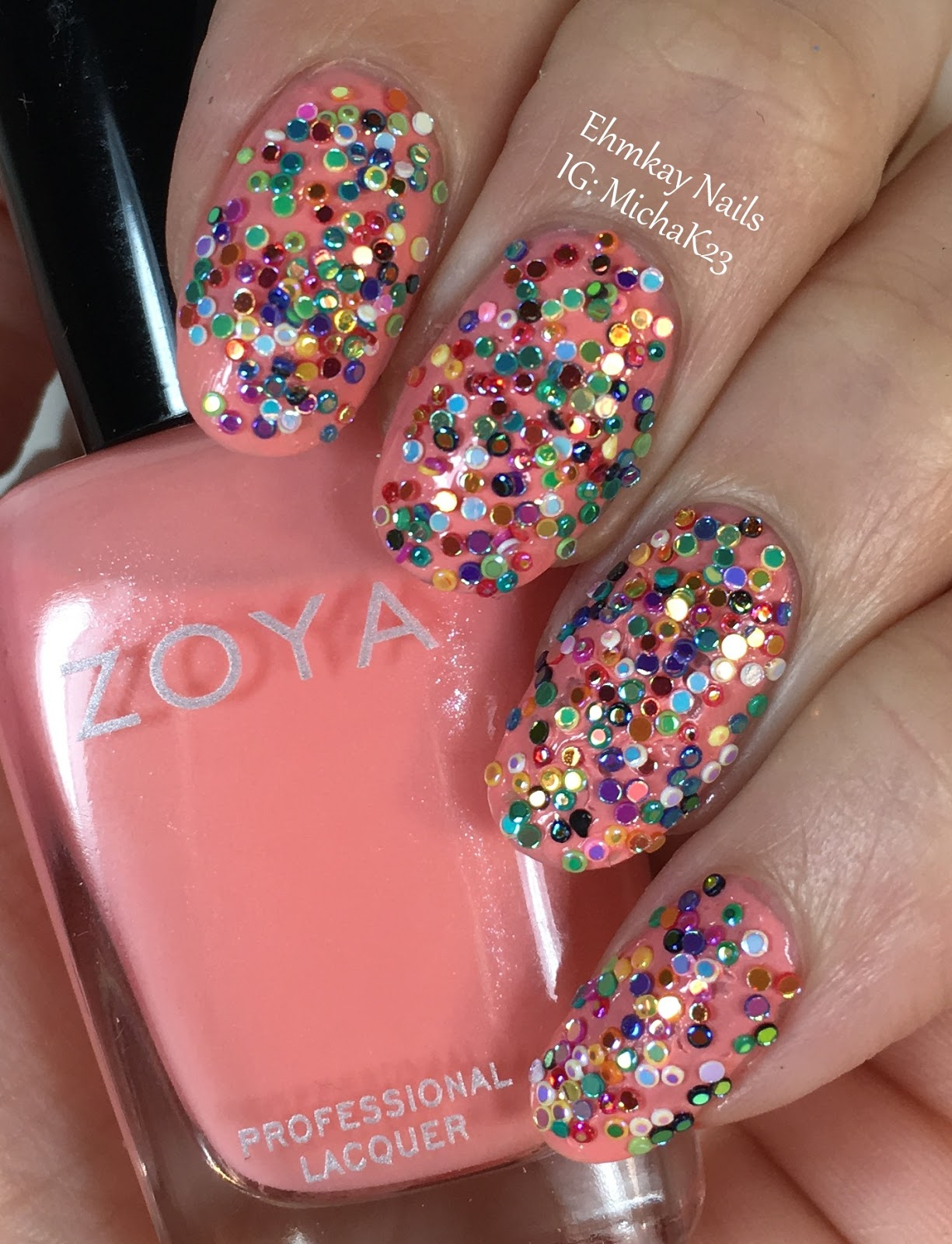 ehmkay nails: Sprinkles Nail Art with Lady Queen Nail Gems