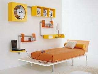 Dormitorio minimalista de niño